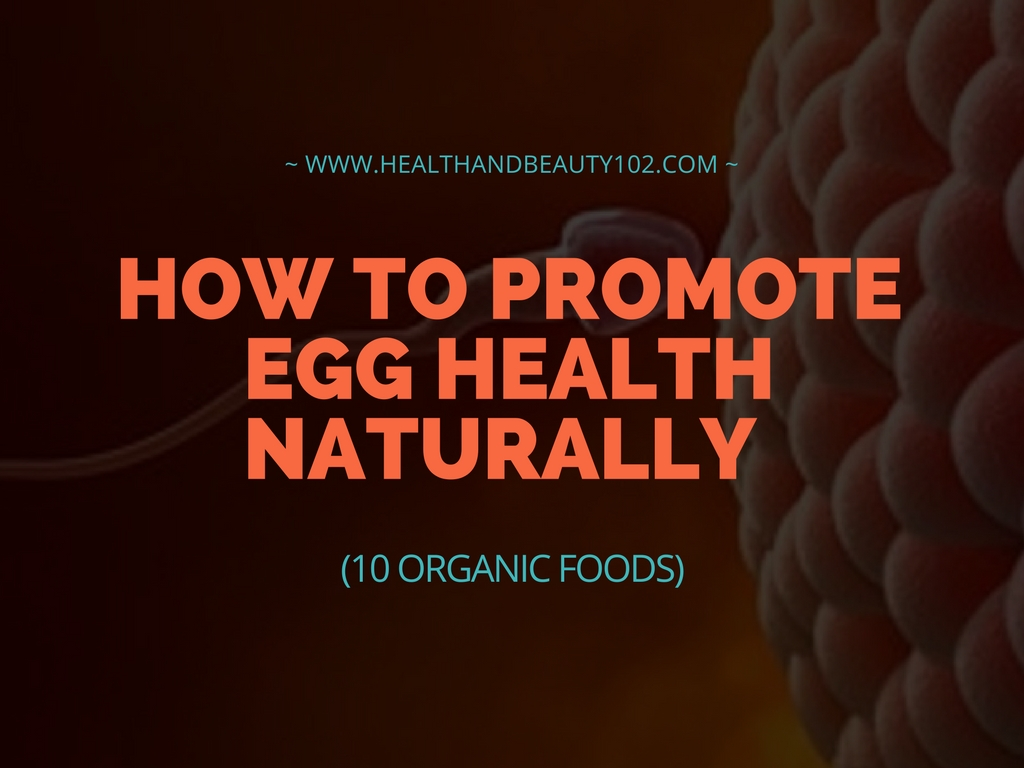 HOW TO PROMOTE EGG HEALTH NATURALLY (10 ORGANIC FOODS)